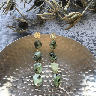 Kastane - SALE!【CP-5C】long agate pirce-green-