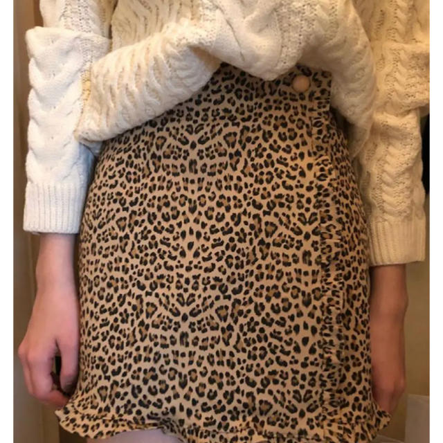 Lochie(ロキエ)のepine レオパードミニスカート レディースのスカート(ミニスカート)の商品写真