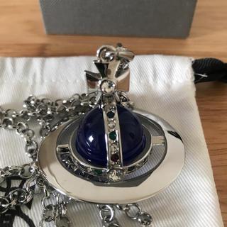 ヴィヴィアンウエストウッド(Vivienne Westwood)の新品 ネイビー 刻印あり ネックレス(ネックレス)