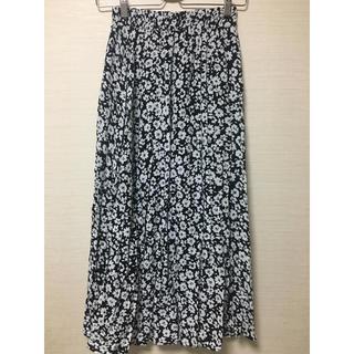 しまむら - 美品 しまむら ガーゼ素材 花柄ロングスカート Mサイズ