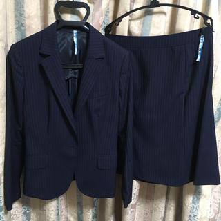 スーツカンパニー(THE SUIT COMPANY)の夏物 レディース スーツ セット ネイビー(スーツ)