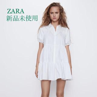 ZARA - ZARA フレアーワンピース ホワイト