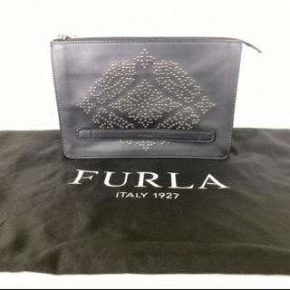 フルラ(Furla)のフルラ FURLA スタッズ レザー セカンドバッグ クラッチバッグ(クラッチバッグ)