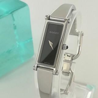Gucci - 綺麗 グッチ 新品仕上げ 黒 バングル レディースウォッチ 時計 ワンピ 極美品