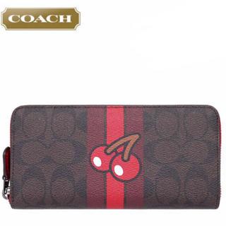 COACH - 新品◆コーチxパックマン限定◇長財布◆F56718◇シグネチャー チェリー茶色