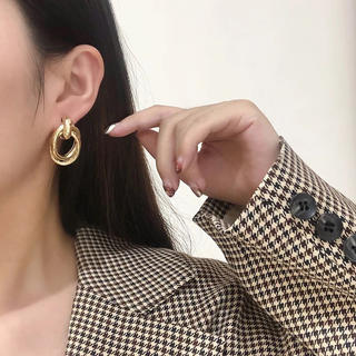 SENSE OF PLACE by URBAN RESEARCH - 【ER-1B】metal clip earrings