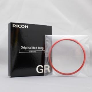 リコー(RICOH)のリア 新品未使用 Ricoh GR・GR2用 レンズリング 赤(コンパクトデジタルカメラ)