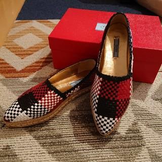 プラダ(PRADA)のPRADA エスパドリーユシューズ(ローファー/革靴)