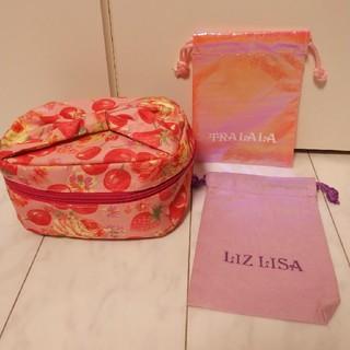 リズリサ(LIZ LISA)のリズリサ 化粧ポーチと、TRALALAのかわいいショッパーみたいな袋(ポーチ)
