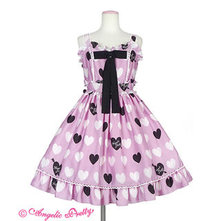 Angelic Pretty - Angelic Pretty Dolly Heart ジャンパースカート ピンク