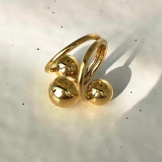 韓国購入品 ❁ Gold Design Ring  ohotoro 好き 新品