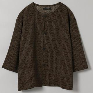 ジーナシス(JEANASIS)のチャイナショートシャツ6S/ブラック/柄シャツ/新品(シャツ/ブラウス(半袖/袖なし))