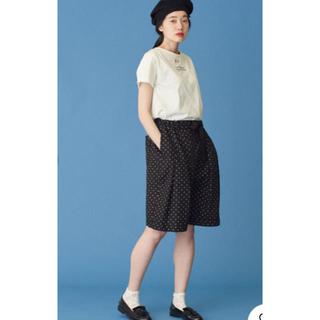 シャンブルドゥシャーム(chambre de charme)のMalle 三つ揃え リネン柄違い短めパンツ(カジュアルパンツ)