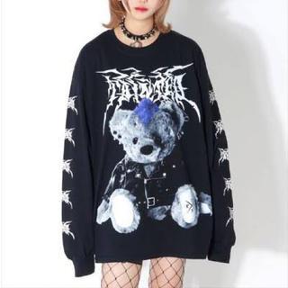 ミルクボーイ(MILKBOY)のTRAVAS TOKYO metal bear L/S TEE (black)(Tシャツ(長袖/七分))