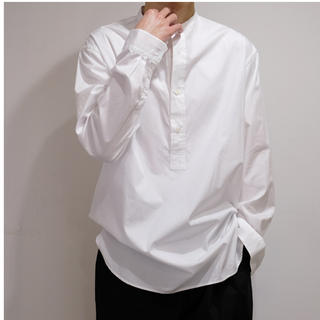 ワンエルディーケーセレクト(1LDK SELECT)の(GRAPHPAPER) BROAD BAND COLLAR SHIRT WHT(シャツ)
