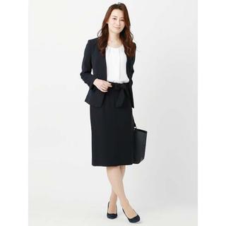 スーツカンパニー(THE SUIT COMPANY)のスーツカンパニー【destyle】●リボンベルトセミタイトスカート(ひざ丈スカート)