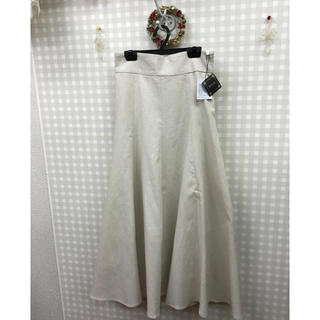 【新品】綿麻混ロングフレアースカート(ロングスカート)