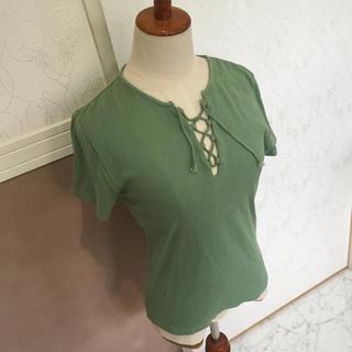 SLY - 正規品✳︎SLY スライ 編み上げトップス Tシャツ