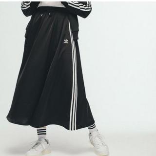 adidas - adidas Originals LONG SATIN SKIRTブラック