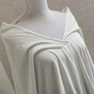 アンティカ(antiqua)の未着用大きいサイズアンティカ襟ぬきTシャツオフホワイトガーゼっぽくて肌触り最高(Tシャツ(半袖/袖なし))