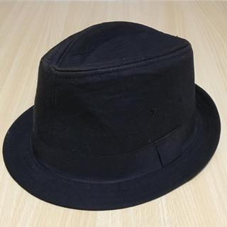 エイチアンドエム(H&M)のハット 黒 帽子(メンズ)(ハット)