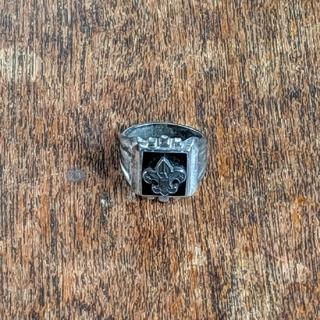 BSA ☆ ヴィンテージ リング 指輪 ブラック オニキス シルバー ジュエリー(リング(指輪))