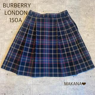 バーバリー(BURBERRY)の美品 バーバリー ロンドン 150 チェック スカート 毛100%(スカート)