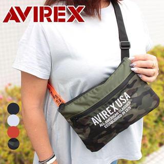 アヴィレックス(AVIREX)のアビレックス AVIREX サコッシュショルダーバッグ AX 1100 オレンジ(ショルダーバッグ)