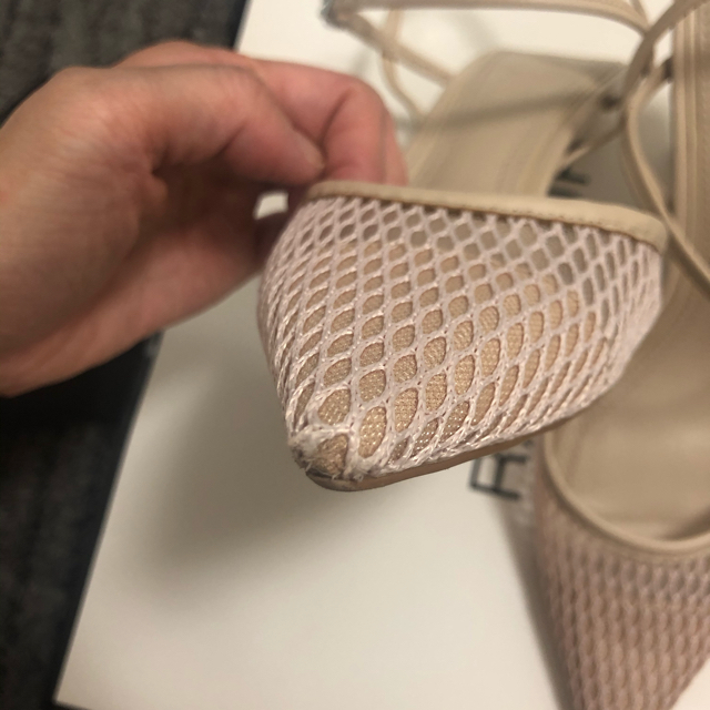 ZARA(ザラ)のZARA スリングバックメッシュパンプス レディースの靴/シューズ(ハイヒール/パンプス)の商品写真