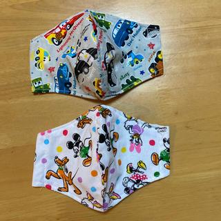 ディズニー(Disney)のミッキーマウス カーズ 子ども用マスク 冷感素材 2枚組(外出用品)