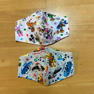ディズニー(Disney)のミッキーマウス カーズ 子ども用 インナーマスク 2枚セット(外出用品)
