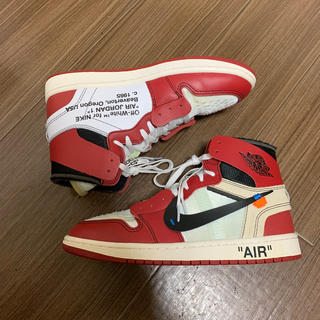 NIKE - air Jordan 1 off white 27.5cm