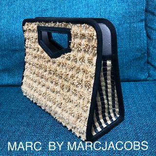 マークバイマークジェイコブス(MARC BY MARC JACOBS)の美品!MARC  BY MARC  JACOBSかごクラッチ(かごバッグ/ストローバッグ)