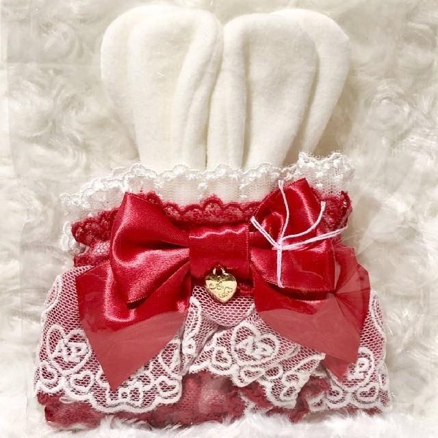 Angelic Pretty(アンジェリックプリティー)の【新品】Angelic Pretty♡リリカルレースお袖とめ(アカ) レディースのファッション小物(その他)の商品写真