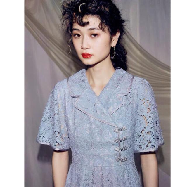 PAMEO POSE(パメオポーズ)のPAMEO POSE パメオポーズ Mandarin Button ドレス レディースのワンピース(ロングワンピース/マキシワンピース)の商品写真