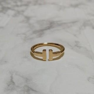 Tiffany & Co. - ティファニー  Tワイヤー リング 11号 イエローゴールド 18K
