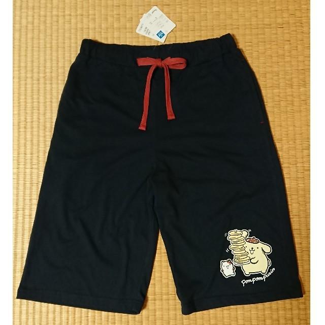 ポムポムプリン ハーフパンツ ネイビー Lサイズ レディースのパンツ(ハーフパンツ)の商品写真