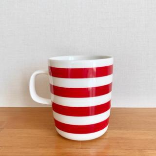 marimekko - マリメッコ マグカップ タサライタ 60周年記念 ボーダー 赤 レッド
