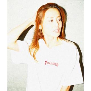スラッシャー(THRASHER)のTHRASHER 刺繍白Tシャツ(Tシャツ(半袖/袖なし))
