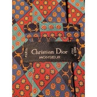 クリスチャンディオール(Christian Dior)の【Christian Dior】美品 ネクタイ カラフルなチェック柄(ネクタイ)