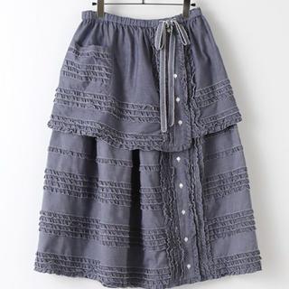 PINK HOUSE - 新品 タグ付き♪ 定価48400円 ネイビー スカート フリーサイズ 大特価‼️