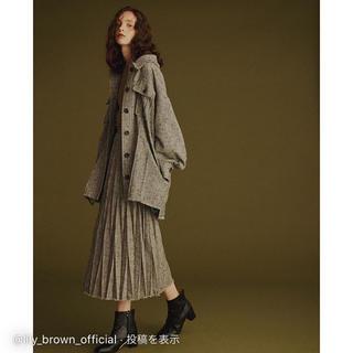 Lily Brown - リリーブラウン  ツイードプリーツスカート