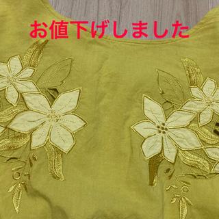 ジーナシス(JEANASIS)のJEANASIS 刺繍ブラウス(シャツ/ブラウス(半袖/袖なし))