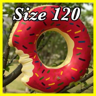 【インスタ映え】ドーナツ 浮き輪 プール 海 120cm ビッグ(マリン/スイミング)