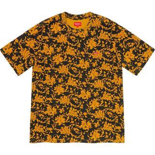 Supreme - Small Box Tee Black Floral L フローラル Tシャツ