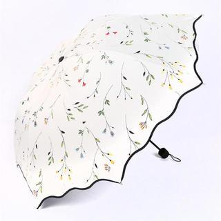 折りたたみ 日傘  花柄 コンパクト 三つ折り 晴雨兼用 UV カット 99%