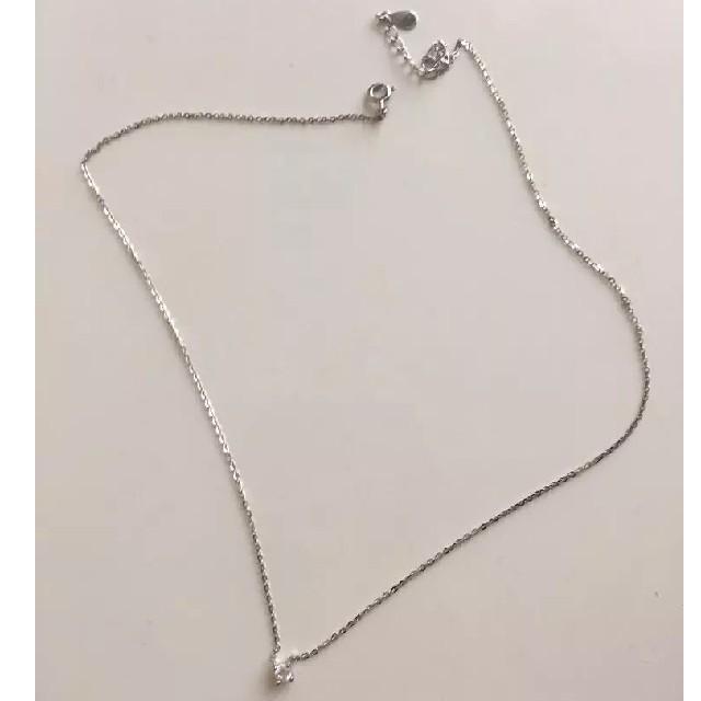 TODAYFUL(トゥデイフル)のシルバー925 1粒ダイヤ CZ ネックレス s925 silver925 レディースのアクセサリー(ネックレス)の商品写真