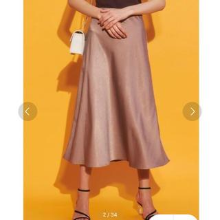 マーキュリーデュオ(MERCURYDUO)のMERCURYDUO サテンセミAラインスカート(ロングスカート)