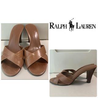 Ralph Lauren - ラルフローレン ブラウンレザー サンダル