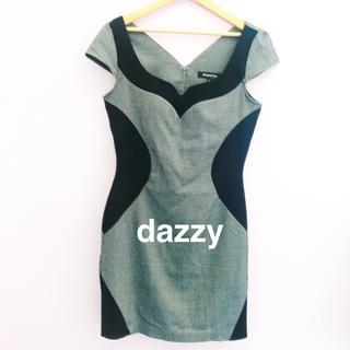 デイジーストア(dazzy store)のdazzy キャバドレス  バイカラー キャバクラ(ミニドレス)